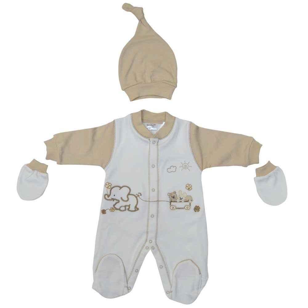 Ayıcıklı Kahve Rengi Bebek takımı