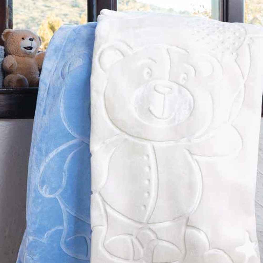 Bebek battaniyesi modelleri battaniyeleri car pictures -  Zdilek Embos Pelu Bebek Battaniyesi 100x120 Krem 1