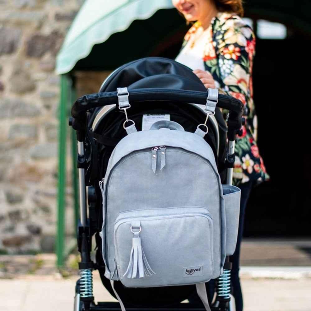 45c8de3971b25 Babyes Escape Bebek Bakım Sırt Çantası Gri Fiyatı | İlke Bebe
