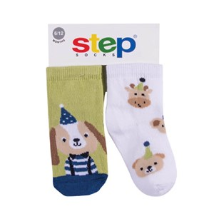 Step Party Dog 2'li Soket Bebek Çorabı 10073